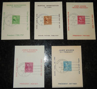 # 804 // 810 VF Bernet/Reid Cards, 5 different, Prexy, Neat!