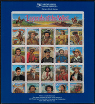 #2870, 29c RECALLED Legends of the West,  Sheet