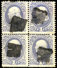 # 145 Fine+, Block, a very rare intact block of 4,  tough to find, fresh!