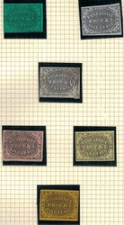 #   10x1, 10x2 Six different Essays, VERY FRESH,  assorted color papers, Unlisted, Rare Group!