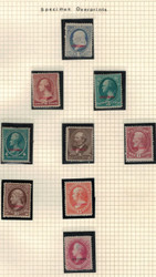 # 206 // 191S F/VF Mint Specimen's,  Ten Total, a few VF,  much better condition than usually seen,  few minor flaws,  VERY RARE!