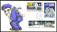#2419, C76, 1434-35, Space theme, D.M Newman, COVER with hand drawn #9 out of 25 made,   SUPER NICE,   RARE only 25 made