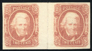 Confed # 8 VF/XF OG NH, Gutter Pair,  usually crease between stamps,  VERY SCARCE!