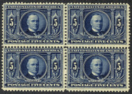 # 326 F/VF+ OG NH, Block, post office fresh,  super fresh block, well centered and never hinged,  Seldom seen as most are broken up for singles,  RARE!