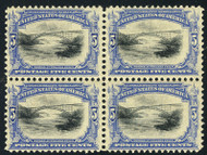 # 297 VF OG NH/VLH, Block, bottom NH,  a super block,  blocks are getting harder to find,  CHOICE!