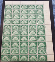 # 614 1c Walloons, F/VF OG NH, 3 hinged, sheet of 50,  VERY NICE!