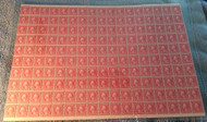 # 540 2c Washington, full sheet of 170, SUPER RARE INTACT SHEET,  6 stamps LH, balance NH, usual fold for this larger sheet,  BETTER BOTTOM ROW IMPERF MARGIN,   SUPER COLLECTIBLE SHEET!