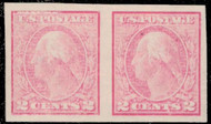 # 409 VF/XF OG H,  Under inked Pair,  First one we have seen like this,  Interesting!