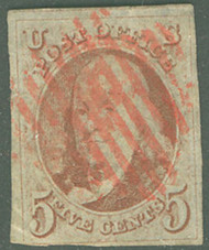 #   1 F-VF+,  almost a full four margin copy, three and a half large margins,  corner crease, Fresh