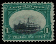 # 294 VF OG Hr, SHIFTED VIGNETTE,  Sunken Boat,   a super sinking boat very low shift, SUPER!