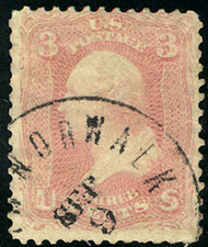 """#  64 F/VF, lovely town cancel,  super fresh """"PINK"""" Color,   A very Nice Stamp!"""