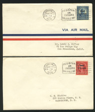 # 647 - 648 FIRST DAY COVERS,  one of each,  super fresh, Nice!