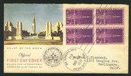 # 852 Golden Gate Bridge, Block, Color First Day Cover, Fresh and Nice!
