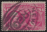 # 244a F/VF, rose carmine shade,  nicely centered, Fresh!