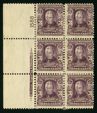 # 302 F/VF OG Hr, fresh color, numerous hinges,  RARE PLATE!