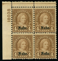 # 673 F/VF OG NH, a fresh plate block, Nice!