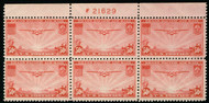 #C 22 VF OG NH, top, nice plate!