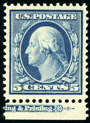 # 378 VF/XF OG NH, w/PSE (GRADED 85 (01/19)) CERT,  a wonderfully fresh stamp with imprint margin at bottom,  SUPER!
