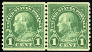 # 597 XF-SUPERB OG NH, Pair, w/PSE (GRADED 95 (6/14)) CERT, very tough coil pair, ONLY 4 grade higher at 98!  SELECT PAIR!