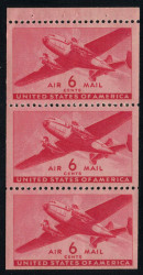 #C 25a F/VF OG NH or better, Booklet Pane      STOCK PHOTO (you will receive a similar centered item)