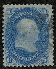 #  86 VF, faintly canceled, clear grill, SUPER STAMP