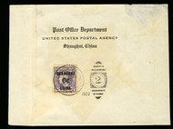 #K 3 F/VF on wrapper, proper Shanghai cancel, Rare Item!