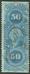 #R 58b F/VF, nicely centered, large margins, Fresh!