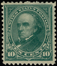 # 258 VF/XF OG NH, w/APS (12/08) CERT, eye popping color, plate number had been removed,  A MOST DIFFICULT ISSUE To FIND THIS NICE!