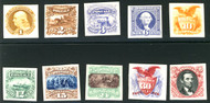 # 112P4 - 122P4 SUPERB proofs on card, each stamp hand picked fro freshness and centering,  SUPER SET!
