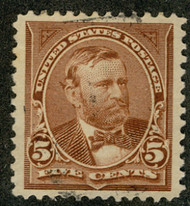 # 255 SUPERB, faintly canceled, select used stamp,  CHOICE!