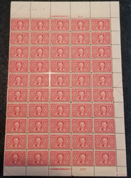 # 324 2c Thomas Jefferson, Sheet of 50, VF OG NH, extremely well centered,  top of the line sheet, Post Office Fresh,  Catalogs $3480.00 see the other values we have