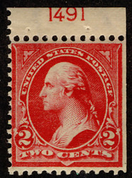 # 279Bj F/VF OG VLH, Booklet Single with plate number,  VERY RARE!