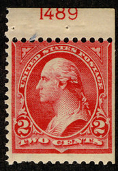 # 279Bj F/VF OG LH, Booklet Single with plate number,  VERY RARE!