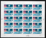 #3862 37c Nat'l WWII Memorial Sheet, VF mint never hinged, fresh   STOCK PHOTO