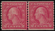# 454 VF/XF OG NH, Line Pair, super fresh, bright color, nearly impossible to find this well centered, if you are looking for a quality LINE PAIR, here it is,  A SELECT GEM!!