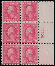 # 500 F/VF OG NH, lovely side plate, better centering than most,  SUPER NICE and RARE!