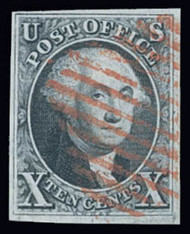 #   2 XF, w/PF (08/19) and APS (02/00) CERTS, four full margins, red cancel, a wonderful looking stamp,  CHOICE!