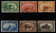 # 285 - 290 F/VF, nice looking with lighter cancels, minor flaws, Nice Set!