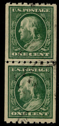 # 390 XF, Line Pair, w/PSE (GRADED 90 (03/06)) CERT, very light cancel an rare as a used Line Pair,  HIGH GRADE!