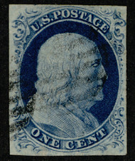 #   9 VF/XF, fainter cancel, nice margins, Fresh Stamp!