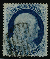 #  24 XF-SUPERB, w/PSE (05/02) CERT, a fabulous stamp with grid cancel,  SUPER NICE!