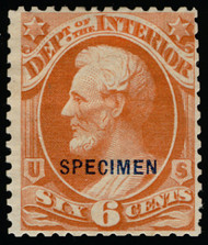 #O 18S F/VF no gum as issued NH, w/PSE (1/16) CERT, fresh color, ONLY 83 sold, fresh color, reperfed at top, SUPER SCARCE!