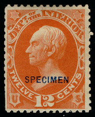 #O 20S F/VF no gum as issued NH, super fresh color, a few scissor cut perfs, which is the normal on this issue, Only 75 sold,  RARE STAMP!