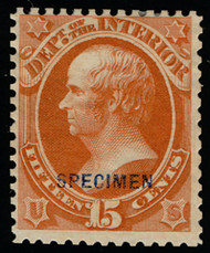 #O 21S F/VF no gum as issued NH, w/PSE (11/16) CERT, very fresh and centering, only 78 sold, complete perfs all around, reperfed,  SCARCE STAMP!
