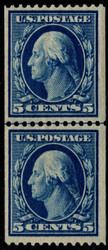 # 351 VF+ OG VLH, Line Pair, w/Weiss (02/15) CERT,  an incredible line pair, bold colors, super nice!