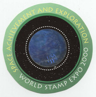 # 3412 SPACE ACHEIVEMENT, VF OG NH, Hologram $11.75 world Expo sheet,   SUPER SELECT!!
