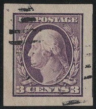 # 345 GEM, w/PSE (GRADED 100 (08/20) CERT, THE HIGHEST GRADE, faintly canceled,  A Super Imperf Stamp!