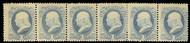 # 182 F/VF OG LH to H, Strip of 6,  seldom seen strip of 6, very fresh color and full gum,   You will not find another one!