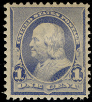 # 219 XF OG Hr, w/Crowe (10/20) CERT(copy), TL from a block, fresh color, nicely centered