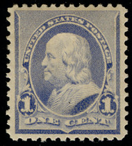 # 219 XF-SUPERB OG H, w/Crowe (10/20) CERT(copy), TR from a block, Well Centered!